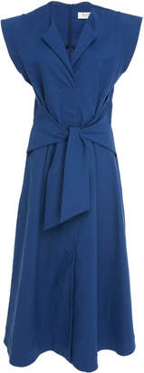 Sea Lennox Belted Cotton-Blend Dress