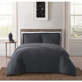 Truly Soft Everyday Solid Jersey Charcoal King Comforter Set
