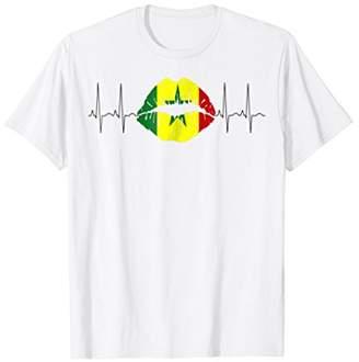 4a744e136 Senegal T-Shirt Lips Heartbeat I Senegalese Sports Jersey. Amazon.com ...