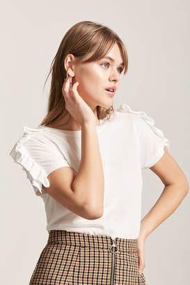 Forever 21 Ruffle Sleeve Top