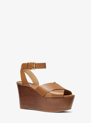 MICHAEL Michael Kors Abbott Leather Wedge