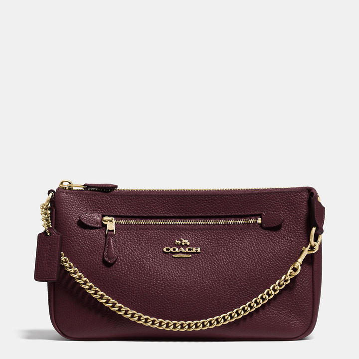 Coach   COACH Coach Nolita Wristlet 24 In Pebble Leather