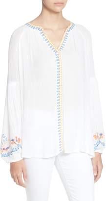 Catherine Malandrino Cabana Embroidery Blouse