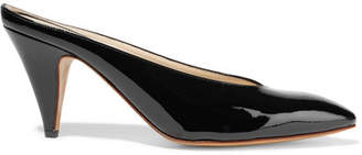 Mansur Gavriel Heel Slipper Patent-leather Mules - Black