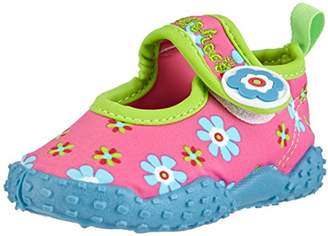 Playshoes GmbH Uv Protection Aqua Flowers, Unisex-Child Sandals,(24/25 EU)(8.5 US)