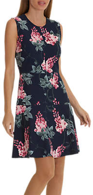 Betty Barclay Floral Jersey Dress, Dark Blue