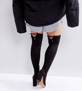 53f21902bd11 Asos Design KARMA Wide Fit Pointy Over The Knee Boots