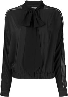 Versace sheer panel blouse