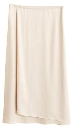 MANGO Midi satin skirt