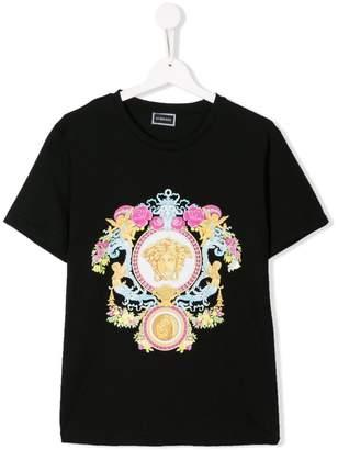 Versace TEEN logo print T-shirt