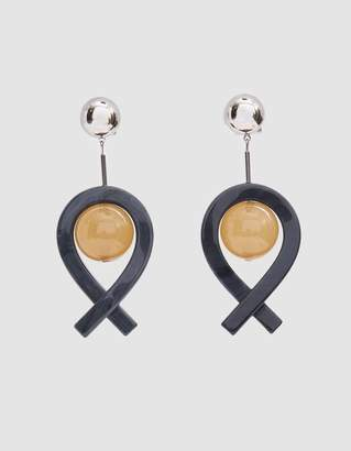 Rachel Comey Loma Drop Earrings in Black/Camel