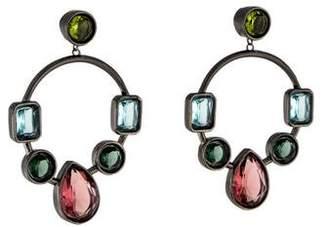 Colette Malouf Marquess Crown Jewel Hoop Earrings