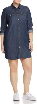 Marina Rinaldi x Ashley Graham Falda Denim Shirt Dress