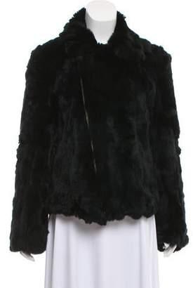 Adrienne Landau Collared Fur Jacket