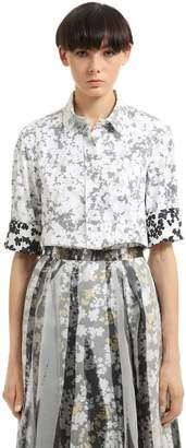 Jil Sander Floral Double Printed Cotton Shirt