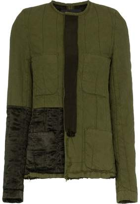 Haider Ackermann Collarless Jacket with Patch Details