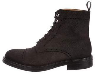 O'Keeffe Suede Brogue Boots