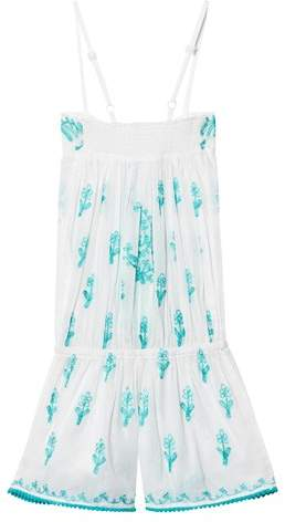 Elizabeth Hurley White Embroidered Waterbaby Playsuit