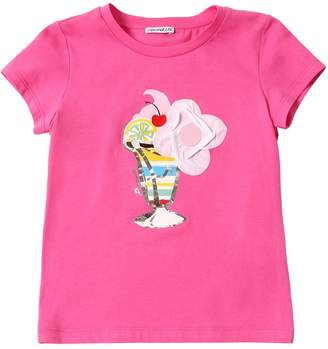 Simonetta ICE CREAM PRINT COTTON JERSEY T-SHIRT