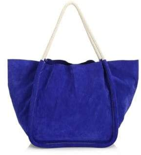 Proenza Schouler Women's Extra Large Suede Rope Tote - Blue