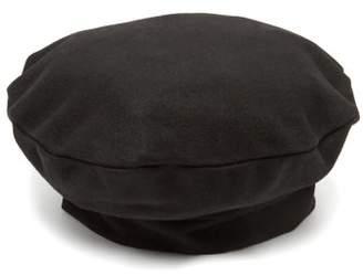Charles Jeffrey Loverboy - Logo Trim Wool Beret - Womens - Black