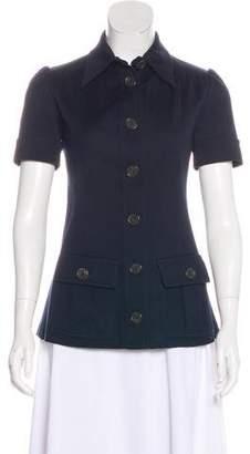 Derek Lam Button-Up Short Sleeve Top