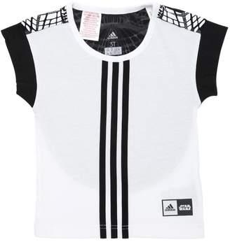 adidas Star Wars Print Jersey & Tulle T-Shirt