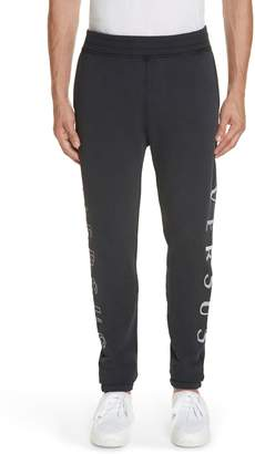 Versace Logo Embroidered Sweatpants