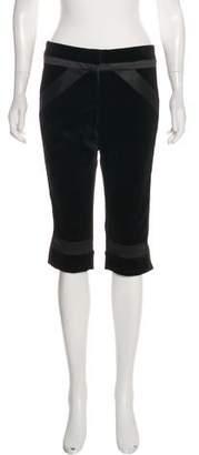 Diane von Furstenberg Louis Mid-Rise Velvet Cropped Pants