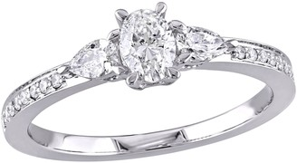 Affinity Diamond Jewelry Affinity 14K Gold 6/10 cttw Oval Diamond 3-Stone Ring