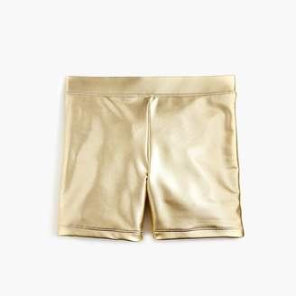 J.Crew Girls' bike short in metallic