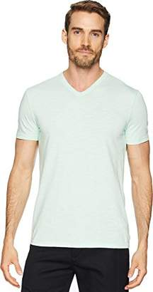 Calvin Klein Men's Short Sleeve Mixed Media V-Neck T-Shirt