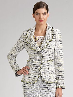 St. John Water Lily Tweed Jacket
