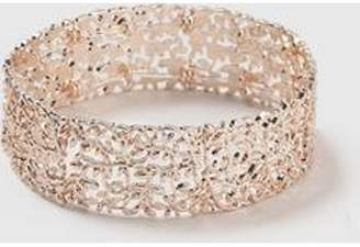 Dorothy Perkins Womens Rose Gold Leaf Stretch Bracelet