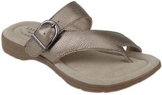 Eastland Leather Strap & Buckle Thong Sandals -Tahiti II