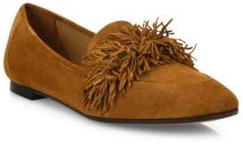 Aquazzura Wild Suede Loafer Flats