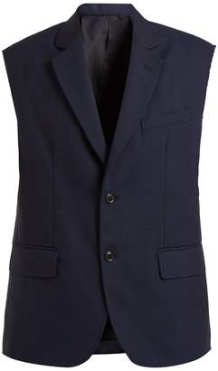 Toga Single-breasted sleeveless wool blazer
