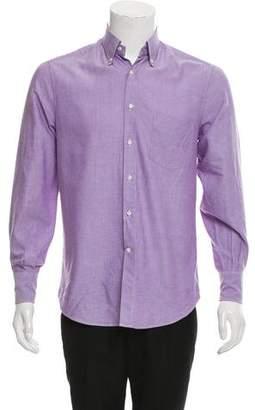 Brunello Cucinelli Woven Button-Up Shirt