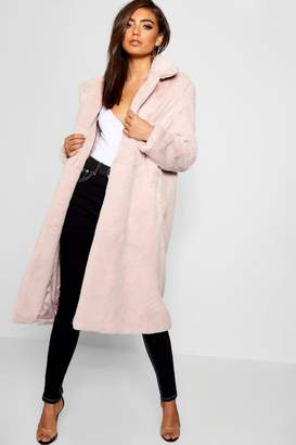 boohoo Maxi Soft Faux Fur Coat