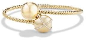 David Yurman Solari Bypass Pave Diamond& 18K Gold Beaded Bracelet