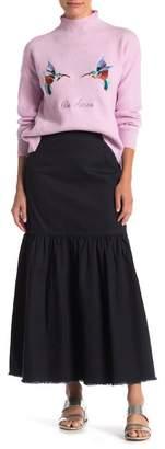 CODEXMODE Twill Knit Maxi Skirt