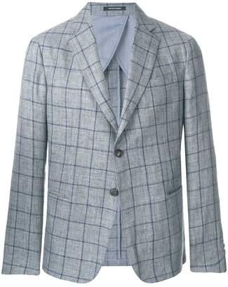 Emporio Armani check fitted blazer