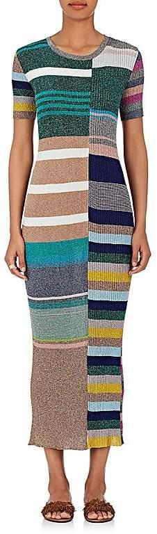 Missoni Women's Metallic Striped Rib-Knit Midi-Dress