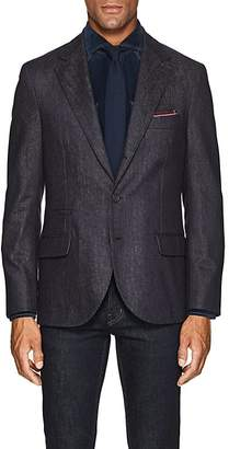 Brunello Cucinelli Men's Denim-Effect Wool Three-Button Sportcoat