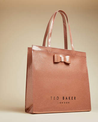 Ted Baker SIZZCON Large glitter bow icon bag