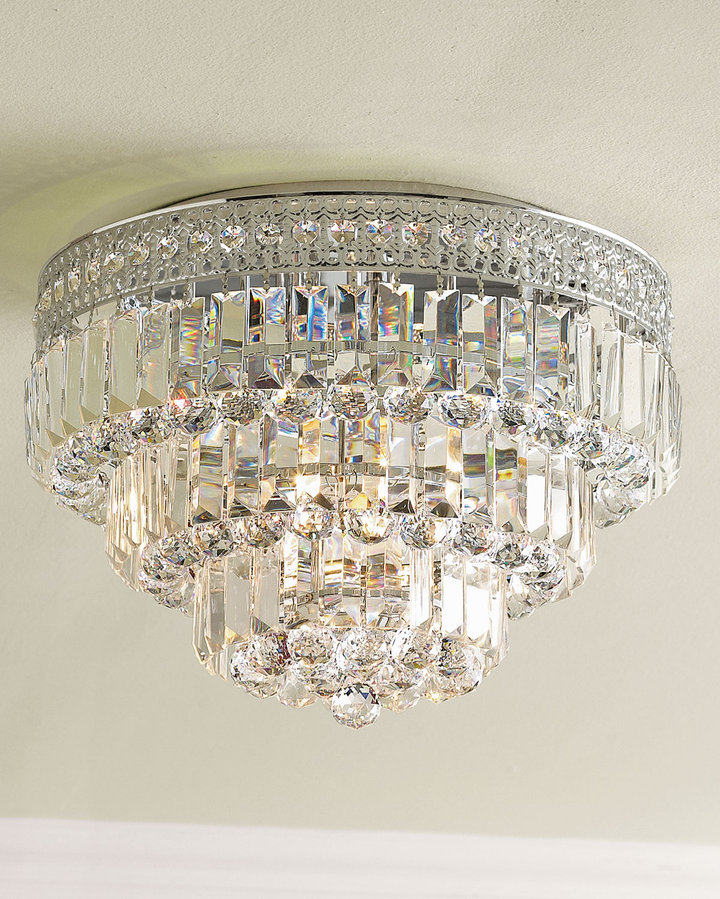 Horchow Round Crystal Ceiling Fixture