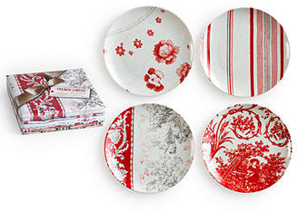 Rosanna Dinnerware Set of 4 Assorted French Linens Salad Plates