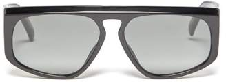 Givenchy Gv 7125/s Square Acetate Sunglasses - Mens - Black