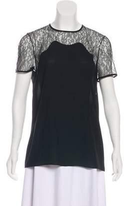 Michael Kors Short Sleeve Lace Top