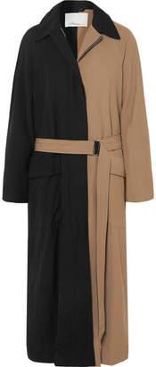3.1 Phillip Lim Paneled Twill Trench Coat - Black